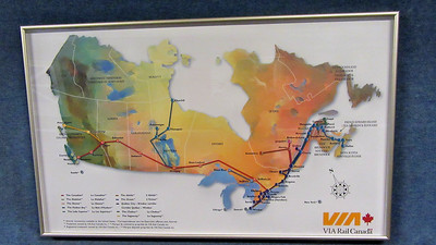 Via Rail's THE OCEAN Montreal - Halifax, NS