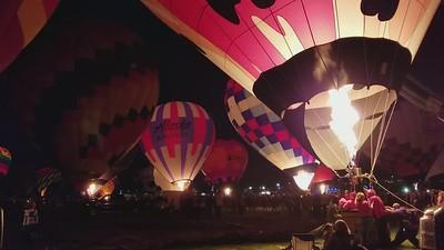 Evening Glow at the Albuquerque 2017 Balloon Fiesta Mini Movie