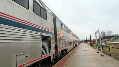 Amtrak's California Zephyr in Illinois and Iowa