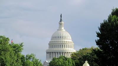 Washington Monuments by Moonlight
