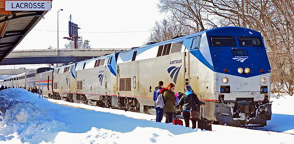 Amtrak's Empire Builder Seattle to Chicago - Photo by Dennis Weber - DO NOT DOWNLOAD