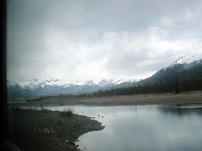 View of Canadian Rockies from THE CANADIAN