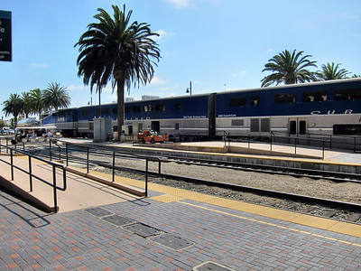 Amtrak's Pacific Surfliner to San Diego - At Station in San Diego