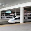 China High-speed Rail (HSR) CRH380B & CRH2A-4051 at Xi'an North (Xianbei) station