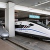 China High-speed Rail (HSR) CRH2A-2508 & CRH2G-4072 at Xi'an North (Xianbei) station