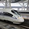 China High-speed Rail (HSR) CRH380BL-5853 at Beijing South (Beijingnan) Station