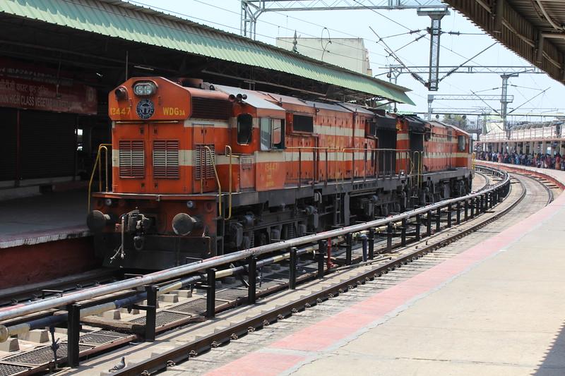 Indian Railways WDG-3A Class Locomotives No. 13447 & No. 14974 at Bengaluru City KSR Station [SBC]