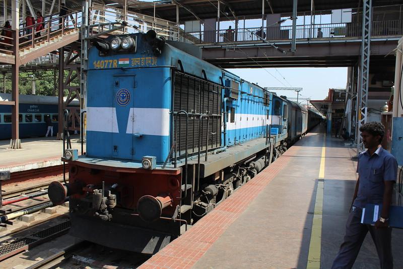 Indian Railways WDM-3A Class Locomotive No. 14077 at Bengaluru City KSR Station [SBC]