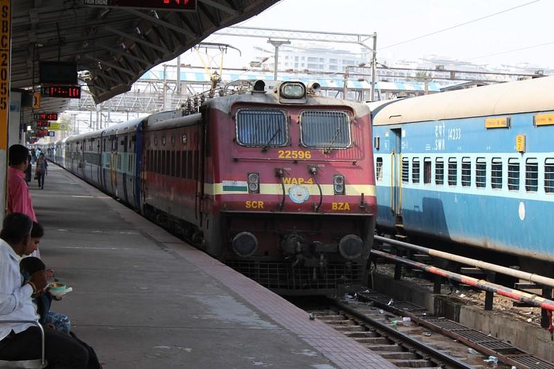 Indian Railways WAP-4 Class Electric Locomotive No. 22596 at Bengaluru City KSR Station [SBC]