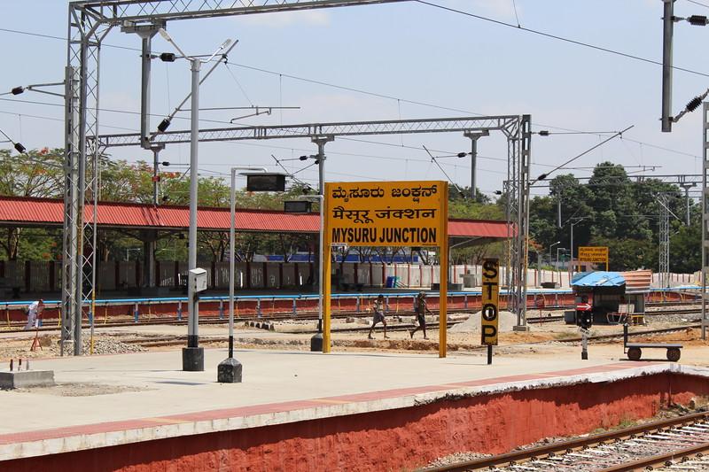 Indian Railways Mysuru Junction Station Sign [MYS]