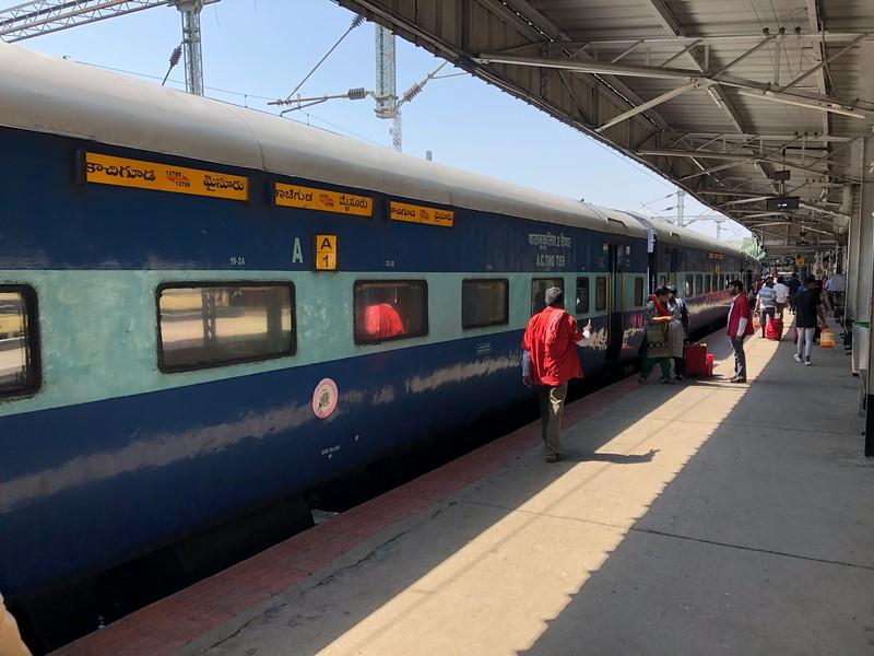 Indian Railways Coaches – Train 12785 at Bengaluru City KSR Station [SBC]