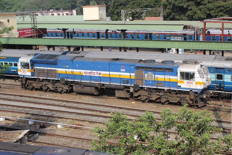 Indian Railways WDP-4D Class Locomotive No. 40553 at Bengaluru City KSR Station [SBC]