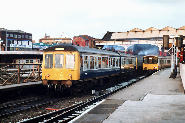 54256, 53980, 51907 and 150133, Manchester Victoria 20/2/1992