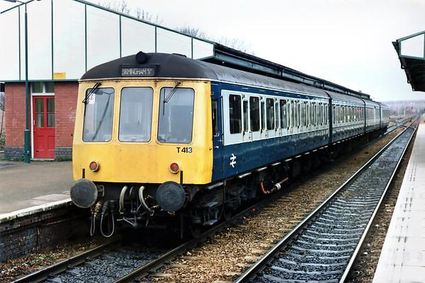 53114, 59632, 59592 and 51868, Stourbridge Junction 7/3/1992