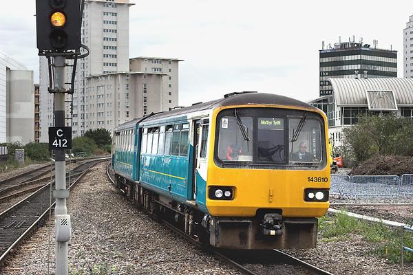 143610 Cardiff Queen Street 19/10/2012 2M42 1525 Barry Island-Mythyr Tydfil