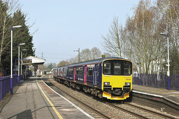 150001 Bramley 30/3/2012 2J35 1307 Reading-Basingstoke