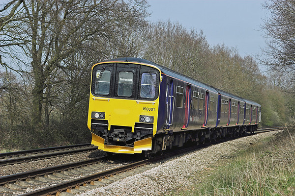 150001 Mortimer 30/3/2012 2J39 1407 Reading-Basingstoke