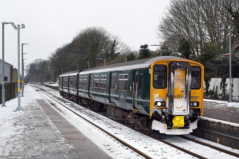 150261 Camborne 1/3/2018<br /> 2P84 1051 Penzance-Plymouth