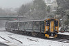 150266 and 150127, Torquay 28/2/2018<br /> 2A59 1142 Paignton-Newton Abbot
