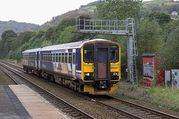 155347 Hebden Bridge 3/10/2008 2E15 0924 Manchester Victoria-Leeds