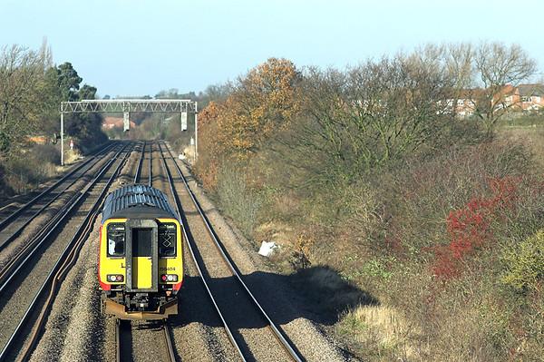 156404 Cossington 23/11/2012 2L69 1225 Leicester-Lincoln Central