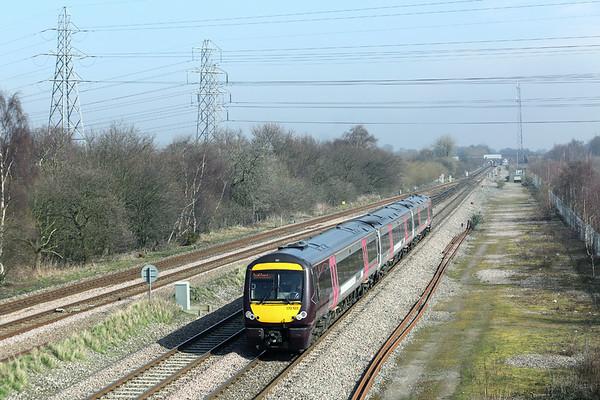 170103 North Stafford Junction 14/3/2014 1V08 1110 Nottingham-Cardiff Central