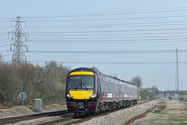 170108 North Stafford Junction 29/3/2011 1V09 1208 Nottingham-Cardiff Central