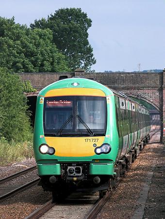 171727 and 171806, Edenbridge Town 28/7/2005 1E48 1634 Uckfield-London Bridge
