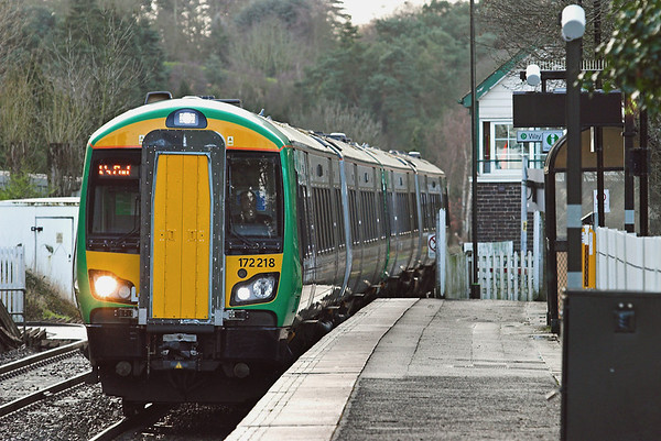 172218 and 172213, Blakedown 3/1/2012 2S38 1134 Great Malvern-Whitlocks End