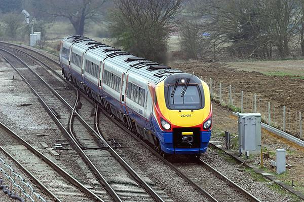 222007 Harrowden Junction 3/4/2009 1F23 1125 London St Pancras-Derby