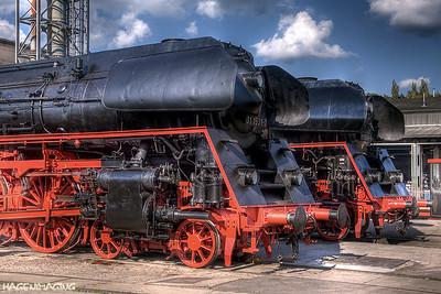 Jedes Jahr treffen sich Eisenbahnfans im Dampflokwerk Meiningen, um Dampflokomotiven und Werkstätten zu besichtigen.