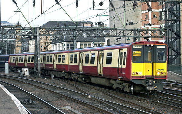 314209 Glasgow Central 29/1/2011 2O22 1455 Glasgow Central-Glasgow Central  (via Cathcart Circle clockwise)