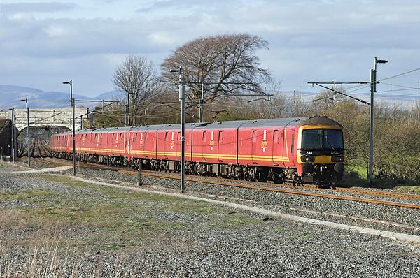 325002, 325004 and 325005, Elmsfield 11/4/2007 1M44 1531 Shieldmuir-Warrington RMT