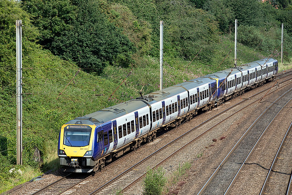 331005 and 331010, Penwortham 14/8/2020 1N55 0943 Manchester Airport-Blackpool North