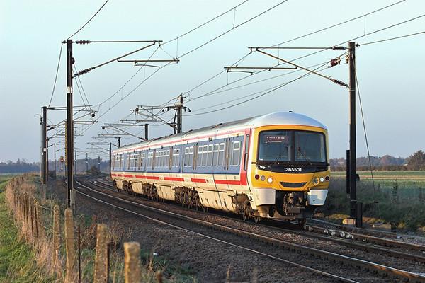 365501 Shepreth Branch Junction 6/11/2006 1T63 1456 Kings Lynn-London Kings Cross