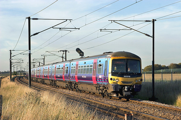 365518 and 365508, Shepreth Branch Junction 27/9/2011 1C72 1715 Cambridge-London Kings Cross