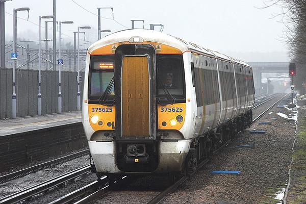 375625 Westenhanger 18/2/2010 2W41 1222 Ramsgate-London Charing Cross