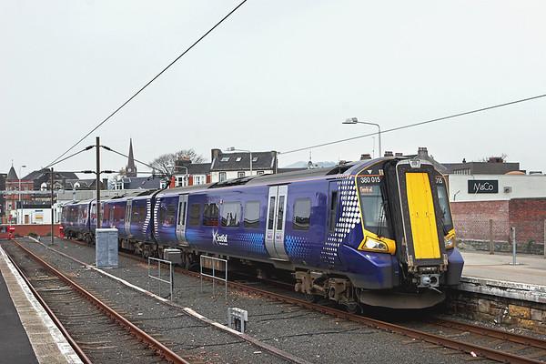 380015 Largs 23/3/2012 1T14 1447 Largs-Glasgow Central