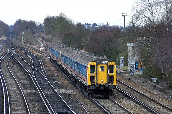 3407 and 3459, Worting Junction 20/12/2004
