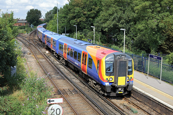 450019 and 450074, Staines 7/8/2014 2U28 1053 Windsor and Eton Riverside-London Waterloo