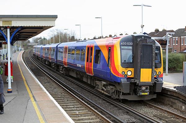 450030 Cosham 7/3/2014 2E32 1138 Portsmouth and Southsea-Southampton Central