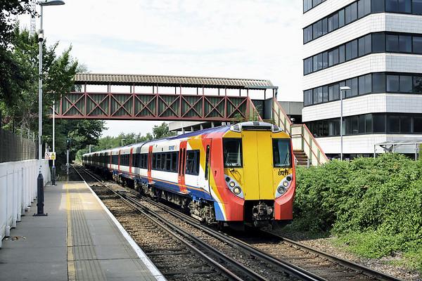 8011 and 8003, Bracknell 8/8/2013 2C36 1212 Reading-London Waterloo