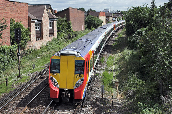 8012 and 8006, Egham 22/6/2006 1C25 1020 London Waterloo-Reading