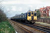 507015 and 508114, Birkdale 4/4/1992<br /> 1520 Southport-Hunts Cross