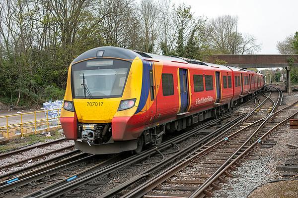 707017 Staines 28/4/2021 2U36 1251 Windsor & Eton Riverside-London Waterloo