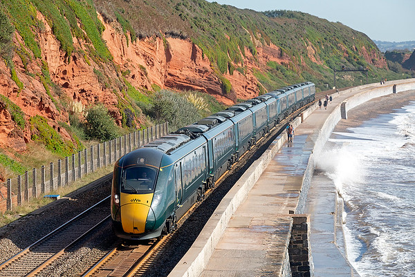 802001 and 802007, Dawlish 19/9/2019 1C04 0730 London Paddington-Penzance