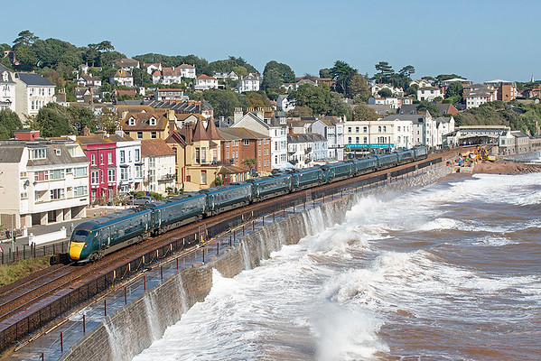 802018 and 802007, Dawlish 20/9/2019 1A82 0900 Penzance-London Paddington