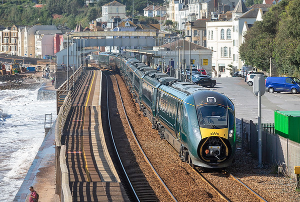 802022 and 802005, Dawlish 19/9/2019 1A81 0741 Penzance-London Paddington