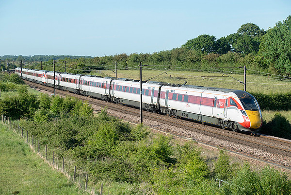 801108 and 801112, Bolton Percy 29/5/2020 1Y90 1802 York-London Kings Cross