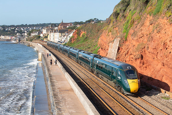 802011 and 802020, Dawlish 19/9/2019 1A79 0647 Penzance-London Paddington